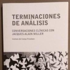 Libros de segunda mano: TERMINACIONES DE ANÁLISIS. CONVERSACIONES CLÍNICAS CON JACQUES-ALAIN MILLER. GREDOS 2012. COMO NUEVO. Lote 165799362