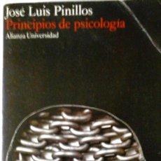 Libros de segunda mano: JOSÉ LUIS PINILLOS - PRINCIPIOS DE PSICOLOGÍA. Lote 166109450