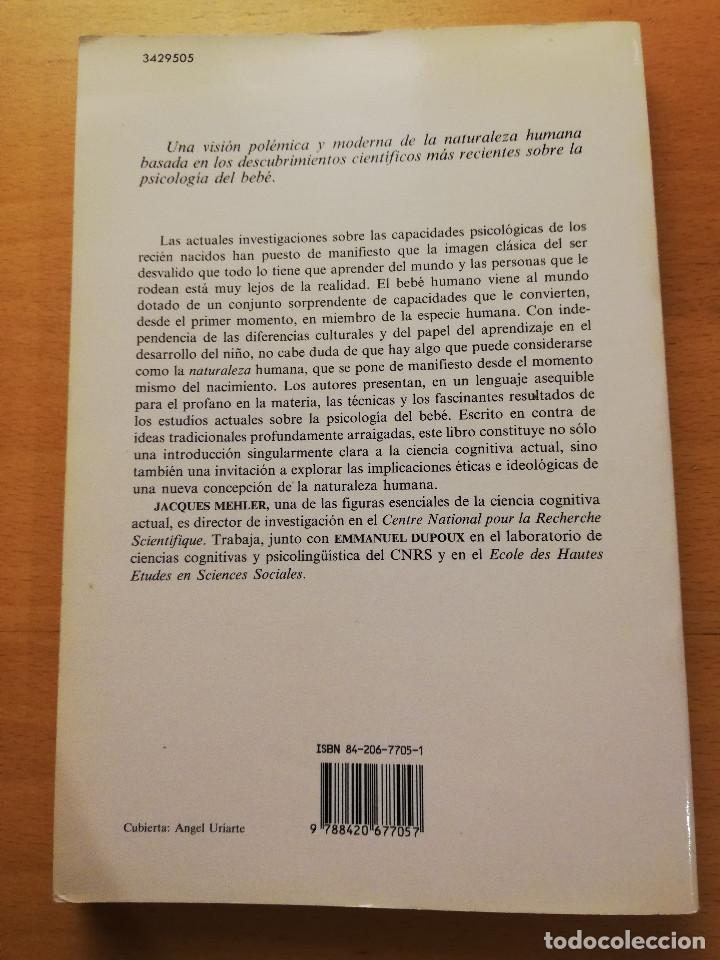 Libros de segunda mano: NACER SABIENDO. INTRODUCCIÓN AL DESARROLLO COGNITIVO DEL HOMBRE (MEHLER / DUPOUX) - Foto 7 - 166465690