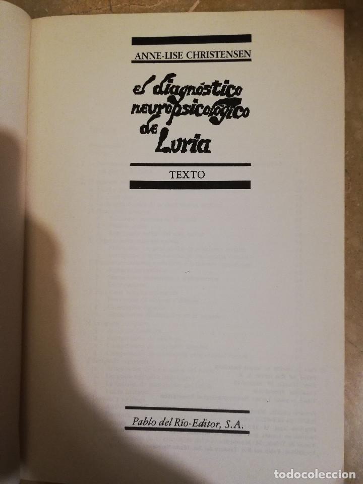 Libros de segunda mano: EL DIAGNOSTICO NEUROPSICOLOGICO DE LURIA (ANNE-LISE CHRISTENSEN) - Foto 3 - 166674053