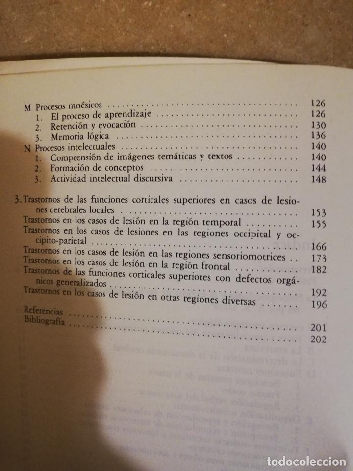 Libros de segunda mano: EL DIAGNOSTICO NEUROPSICOLOGICO DE LURIA (ANNE-LISE CHRISTENSEN) - Foto 5 - 166674053