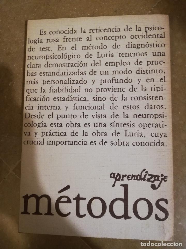 Libros de segunda mano: EL DIAGNOSTICO NEUROPSICOLOGICO DE LURIA (ANNE-LISE CHRISTENSEN) - Foto 6 - 166674053