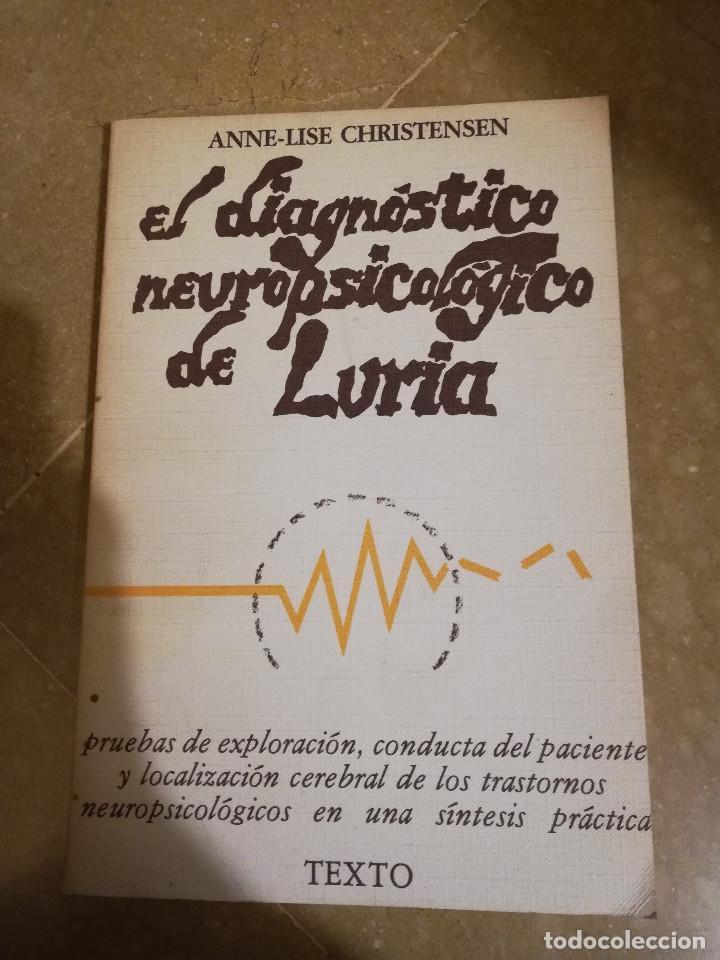 EL DIAGNOSTICO NEUROPSICOLOGICO DE LURIA (ANNE-LISE CHRISTENSEN) (Libros de Segunda Mano - Pensamiento - Psicología)