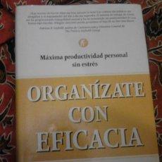 Libros de segunda mano: ORGANÍZATE CON EFICACIA - DAVID ALLEN - URANO 2002. Lote 178680650
