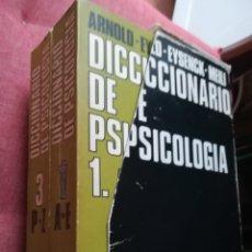 Libros de segunda mano: DICCIONARIO DE PSICOLOGÍA TRES TOMOS, EDICIONES RIODUERO. Lote 167175858