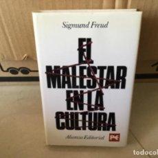 Libros de segunda mano: LIBRO EL MALESTAR EN LA CULTURA SIGMUN FREUD TAPA DURA. Lote 169293048