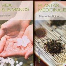 Libros de segunda mano: QUIROGNOMIA Y PLANTAS MEDICINALES. 2 LIBROS COLECCIÓN CUERPO Y MENTE. COMO NUEVOS.. Lote 169452420