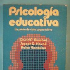 Livros em segunda mão: PSICOLOGIA EDUCATIVA (UN PUNTO DE VISTA COGNOSCITIVO) - DAVID P. AUSUBEL Y OTROS - TRILLAS, 1983. Lote 169549356