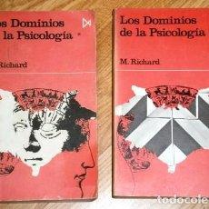 Libros de segunda mano: LOS DOMINIOS DE LA PSICOLOGÍA 2T POR MICHEL RICHARD DE ED. ISTMO EN MADRID 1972. Lote 170491648