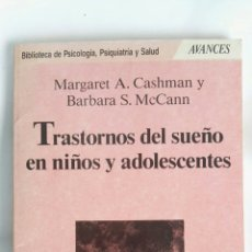Libros de segunda mano: TRASTORNOS DEL SUEÑO EN NIÑOS Y ADOLESCENTES. Lote 170892608