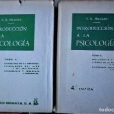 Libros de segunda mano: E.R. HILGARD - INTRODUCCIÓN A LA PSICOLOGÍA (2 VOL). Lote 170959230