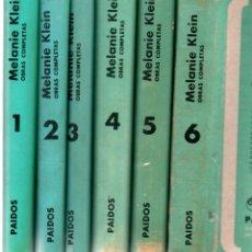 Libros de segunda mano: MELANIE KLEIN : OBRAS COMPLETAS - SEIS TOMOS (PAIDÓS, 1978). Lote 171339604