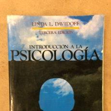 Libros de segunda mano: INTRODUCCIÓN A LA PSICOLOGÍA. LINDA L. DAVIDOFF. ED. MCGRAWHILL 1990.. Lote 171464158