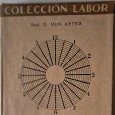 Libros de segunda mano: PROF. E VON ASTER - INTRODUCCIÓN A LA PSICOLOGÍA. Lote 171586648
