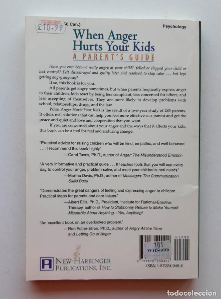 Libros de segunda mano: When Anger Hurts Your Kids, Mtthew McKay - Foto 2 - 171612273