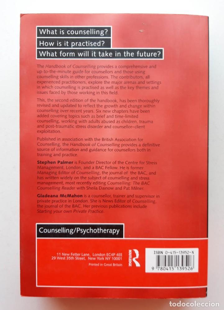 Libros de segunda mano: Handbook of Counselling, Stephen Palmer - Foto 3 - 171616265