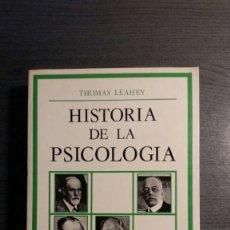 Libros de segunda mano: HISTORIA DE LA PSICOLOGIA - THOMAS HARDY LEAHEY - EDITORIAL DEBATE. Lote 171747692