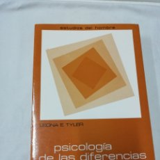 Libros de segunda mano: LEONA E. TYLER - PSICOLOGÍA DE LAS DIFERENCIAS HUMANAS - MAROVA 1984. Lote 171781878