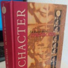 Libros de segunda mano: EN BUSCA DE LA MEMORIA. EL CEREBRO, LA MENTE Y EL PASADO - SCHACTER, DANIEL L.. Lote 172348544