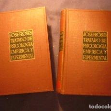 Libros de segunda mano: JOSE FROBES: - TRATADO DE PSICOLOGIA EMPIRICA Y EXPERIMENTAL - (2 TOMOS) (MADRID, 1950). Lote 172853039