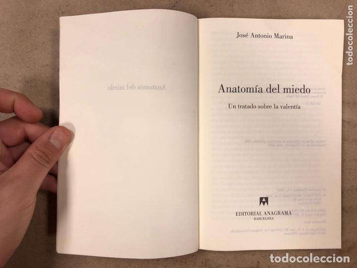 Libros de segunda mano: ANATOMÍA DEL MIEDO (UN TRATADO SOBRE LA VALENTÍA). JOSÉ ANTONIO MARINA. 255 PÁGINAS. - Foto 2 - 172994882