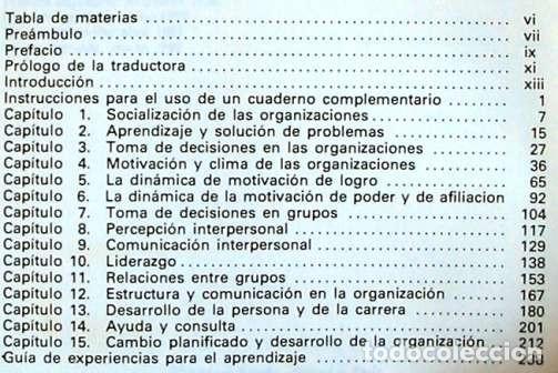 Libros de segunda mano: PSICOLOGÍA DE LAS ORGANIZACIONES - EXPERIENCIAS - 1982 - VER INDICE - Foto 2 - 173194173