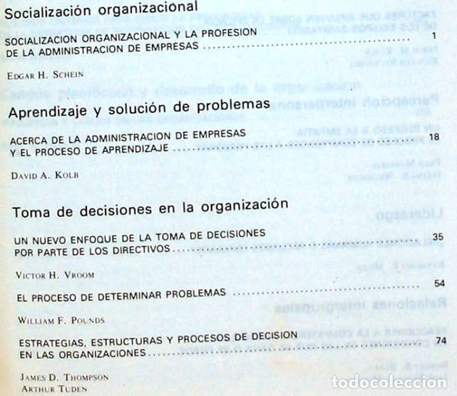 Libros de segunda mano: PSICOLOGÍA DE LAS ORGANIZACIONES - PROBLEMAS CONTEMPORÁNEOS - 1982 - VER INDICE - Foto 2 - 173194370