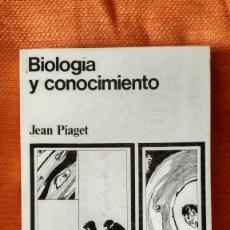 Libros de segunda mano: JEAN PIAGET. BIOLOGÍA Y CONOCIMIENTO. ED.SIGLO XXI. 1977.. Lote 173591238