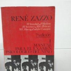 Libros de segunda mano: MANUAL PARA EL EXAMEN PSICOLOGICO DEL NIÑO I. Lote 173639079
