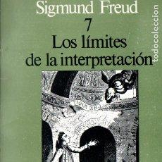 Libros de segunda mano: CUADERNOS SIGMUND FREUD Nº 7 - LOS LÍMITES DE LA INTERPRETACIÓN (ALTAZOR, 1978). Lote 173661517