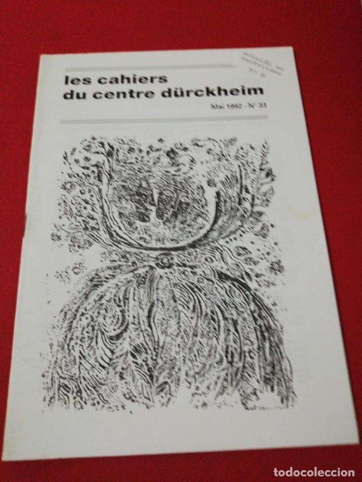 KARLFRIED GRAD DURKHEIM, LES CASHIERS DU CENTRE DURKHEIM CASTELLANO, N. 0 (Libros de Segunda Mano - Pensamiento - Psicología)