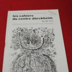 Libros de segunda mano: KARLFRIED GRAD DURKHEIM, LES CASHIERS DU CENTRE DURKHEIM CASTELLANO, N. 0. Lote 173682509