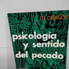 Libros de segunda mano: PSICOLOGIA Y SENTIDO DEL PECADO. Lote 173898307