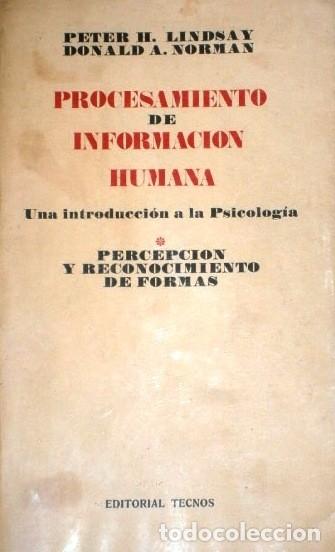 Libros de segunda mano: Procesamiento de información humana 3T por Lindsay y Norman de Ed. Tecnos en Madrid 1976 - Foto 2 - 173971490
