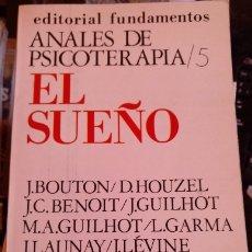 Livres d'occasion: EL SUEÑO.. Lote 173740920