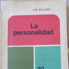 Libros de segunda mano: LA PERSONALIDAD. - FILLOUX, JEAN CLAUDE.. Lote 173755695