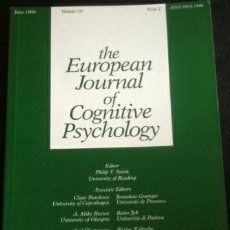 Libros de segunda mano: THE EUROPEAN JOURNAL OF COGNITIVE PSYCHOLOGY. VOLUME 10 ISSUE 2. JUNE 1998. - SMITH, PHILIP T. (EDIT. Lote 173700685