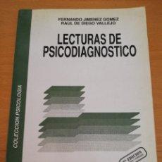 Libros de segunda mano: LECTURAS DE PSICODIAGNÓSTICO (FERNANDO JIMÉNEZ / RAUL DE DIEGO) AMARÚ EDICIONES. Lote 174238152
