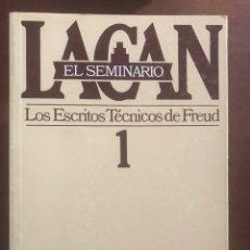 Libros de segunda mano: JACQUES LACAN. EL SEMINARIO; 10 NÚMEROS. OBRAS COMPLETAS. PAIDÓS. Lote 190624381