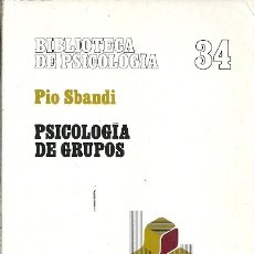 Libros de segunda mano: BIBLIOTECA DE PSICOLOGIA 34 PSICOLOGIA DE GRUPOS PIO SBANDI HERDER 1990. Lote 174685434