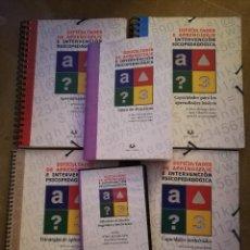 Libros de segunda mano: DIFICULTADES DE APRENDIZAJE E INTERVENCIÓN PSICOPEDAGÓGICA. PRÁCTICAS (LIBRO + DVD + 4 CUADERNOS). Lote 175136040