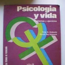 Libros de segunda mano: PSICOLOGIA Y VIDA. PROBLEMAS Y EJERCICIOS. Lote 175180619
