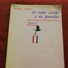 Libros de segunda mano: EL NIÑO SORDO Y SU FAMILIA. APORTES DESDE LA PSICOLOGÍA CLÍNICA (BLANCA NUÑEZ). Lote 175268247
