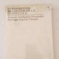 Libros de segunda mano: FUNDAMENTOS BIOLOGICOS DE LA CONDUCTA II VOLUMEN 1 - TDK357. Lote 175675509