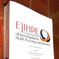 Libros de segunda mano: EJIHPE 8. EUROPEAN JOURNAL OF INVESTIGATION IN HEALTH, PSYCHOLOGY AND EDUCATION. (774 PÁGINAS). Lote 175921330