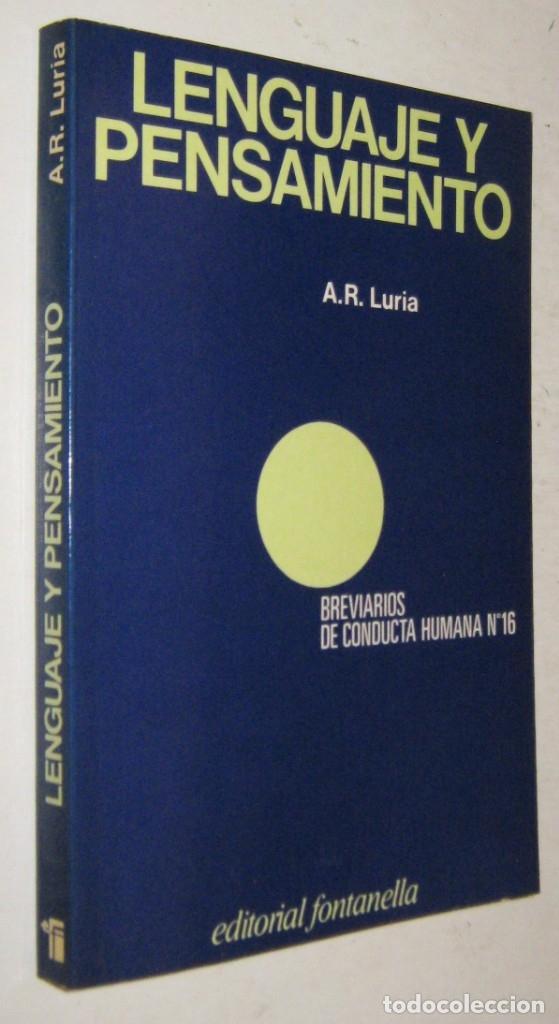 LENGUAJE Y PENSAMIENTO - A. R. LURIA (Libros de Segunda Mano - Pensamiento - Psicología)