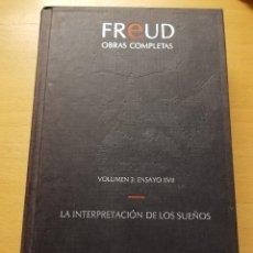 Libros de segunda mano: OBRAS COMPLETAS. VOLUMEN 3. XVII. LA INTERPRETACIÓN DE LOS SUEÑOS (SIGMUND FREUD) EDICIONES ORBIS. Lote 176977528