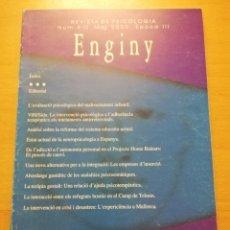 Libros de segunda mano: ENGINY. REVISTA DE PSICOLOGIA NÚM. 9 - 10 (MAIG 2000). Lote 177890602