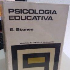 Libros de segunda mano: PSICOLOGÍA EDUCATIVA - STONES, E.. Lote 178141110