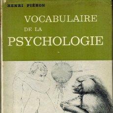 Libros de segunda mano: VOCABULAIRE DE LA PSYCHOLOGIE. Lote 179141676